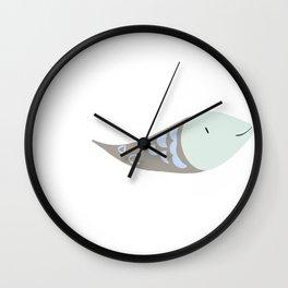 Fish GREY and BLUE Wall Clock