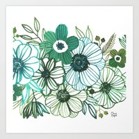 oana befort Art Prints featuring FLORALS by Oana Befort