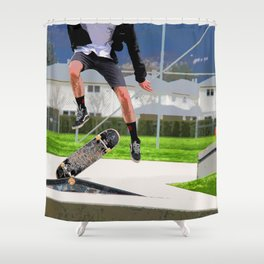 Missed Opportunity  - Skateboarder Shower Curtain