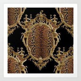 Leopard Chinoise Art Print