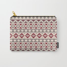 Aztec Essence Ptn IIIb Red Cream Taupe Carry-All Pouch