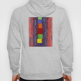 Colorful piled Cubes within free Painting Hoody