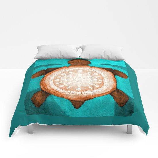 Snowflake turtle Comforters