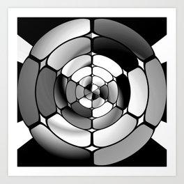 Chromed black and white Art Print