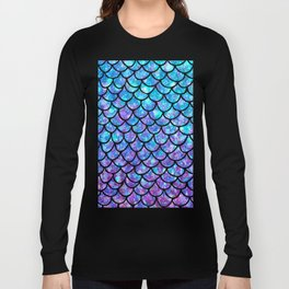 Purples & Blues Mermaid scales Long Sleeve T-shirt