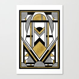 Up and Away - Art Deco Spaceman Canvas Print