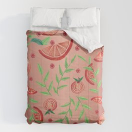 Orange - Rose Gold Comforters
