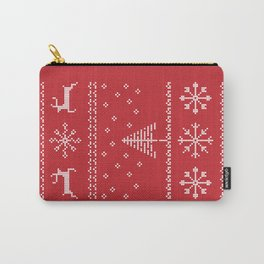 Pixel Tacky Sweater Carry-All Pouch
