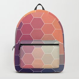 COLORFUL RETRO HEXAGONS HONEYCOMB Backpack