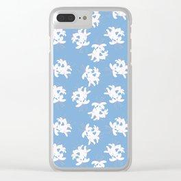 Honeysuckle Bouquet in Carolina Blue Clear iPhone Case