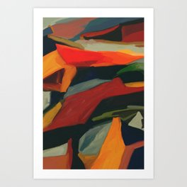 Lessons To Learn Abstract Landscape Art Print