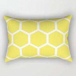 Honeycomb pattern - lemon yellow Rectangular Pillow