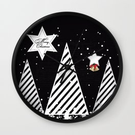 Winter Christmas Wall Clock