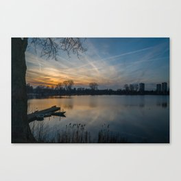 Sunset in The Netherlands Canvas Print