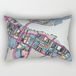Abstract Map Newburyport Rectangular Pillow