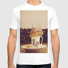 Splish Splash Sploosh MEDIUM White Mens Fitted Tee