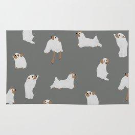 Ghost Dog Print - Gray Rug