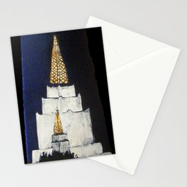 Oakland LDS Temple Tie Stationery Cards