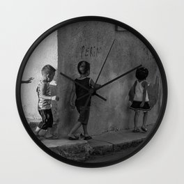 Get in line Wall Clock