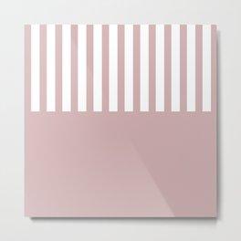 Bold pink stripe Metal Print