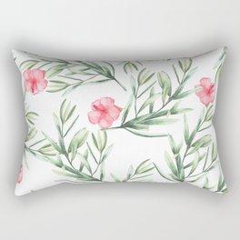 Delicate Hibiscus Rectangular Pillow