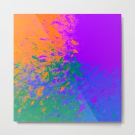 Iridescent Fury Metal Print