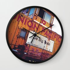 the union pacific caboose Wall Clock