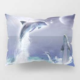 Dolphins and Planets Pillow Sham