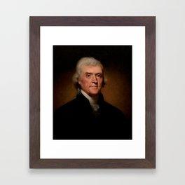 Official Presidential portrait of Thomas Jefferson Framed Art Print