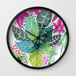 Leafy Tropical Wall Clock