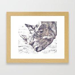 Rhino Rhinoceros Framed Art Print