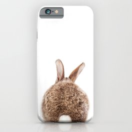 Bunny Tail, Brown Bunny Rabbit, Baby Animals Art Print By Synplus iPhone Case