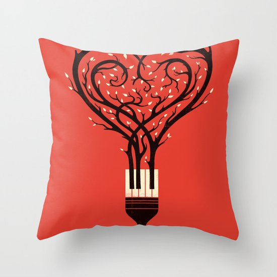 Paint Your Love Song Throw Pillow