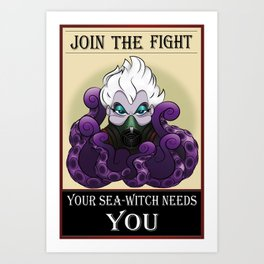 Ursula's War Art Print