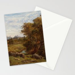 Louis Buvelot - Terrinallum House and Emu Creek from near the lower garden gate (1871) Stationery Cards