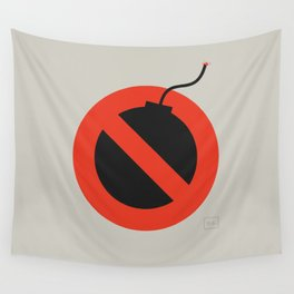 No Bombing Allowed Wall Tapestry