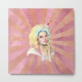 Cupcake Hat Metal Print