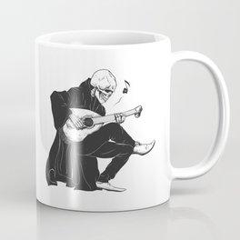 Minstrel playing guitar,grim reaper musician cartoon,gothic skull,medieval skeleton,death poet illus Coffee Mug