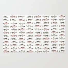 Pattern: Inshore Slam ~ Redfish, Snook, Trout by Amber Marine ~ (Copyright 2013) Rug