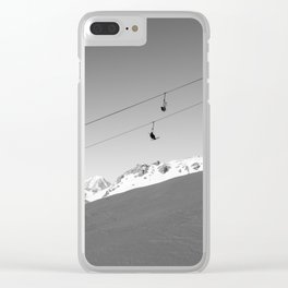 Chairlift in the air, Alps Clear iPhone Case