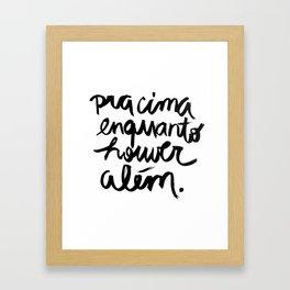 Além Framed Art Print
