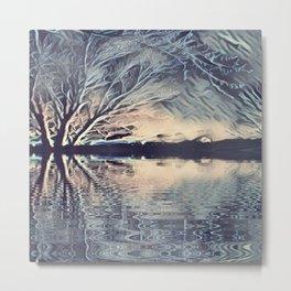 Ice Storm Reflection Metal Print