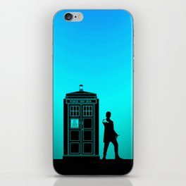 Tardis With The Twelfth Doctor iPhone Skin