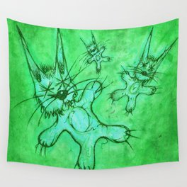 Record Cover for some Jazzed Rabbits, Greenish. Wall Tapestry