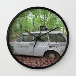 TV in the woods Wall Clock