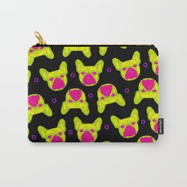 french bulldog - blk pattern Carry-All Pouch