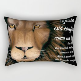 León - Proverbios 28, 1 Rectangular Pillow