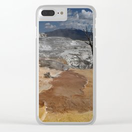 A Surreal Landcape With Dead Tree Clear iPhone Case