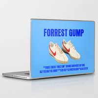 forrest gump Laptop & iPad Skins featuring Forrest Gump Movie Poster by FunnyFaceArt