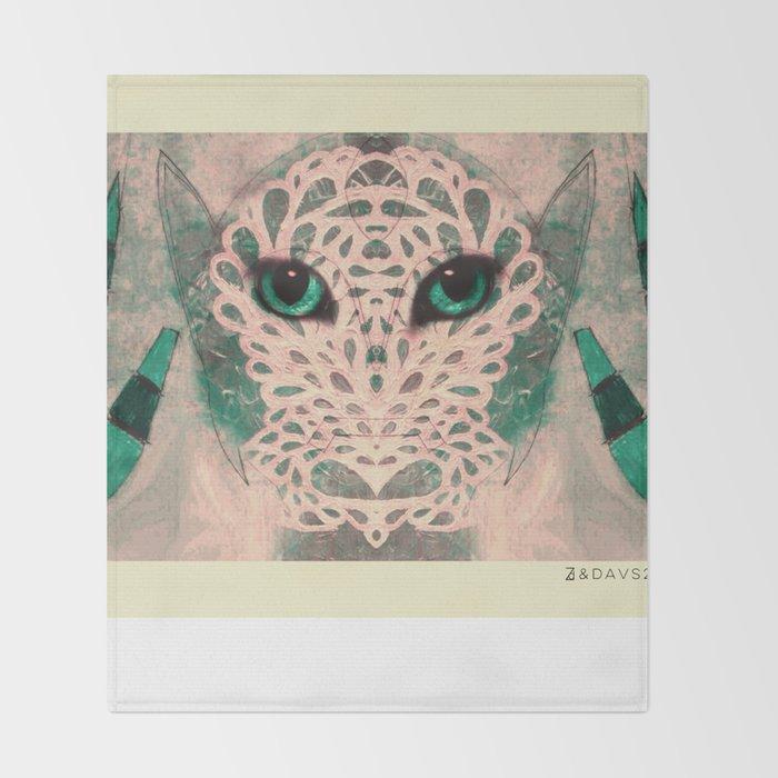 Cat Eyes Throw Blanket
